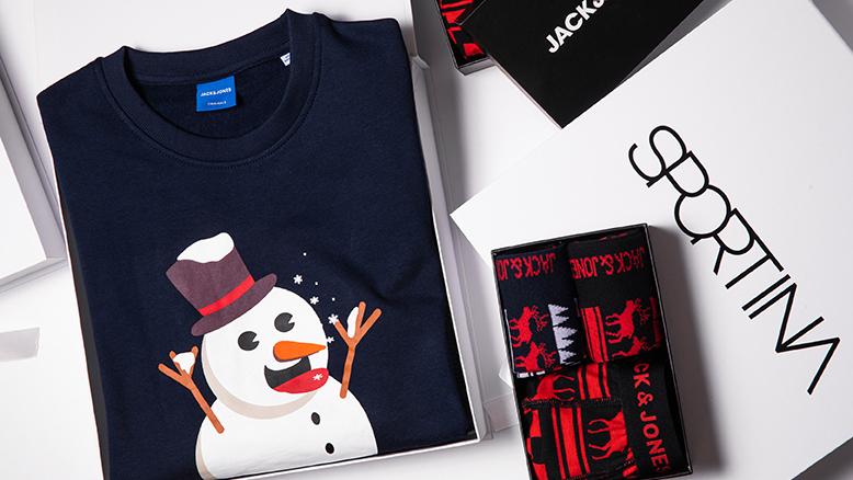 Jack & Jones darilo 14.99 €;  Jack & Jones pulover 24.99 €
