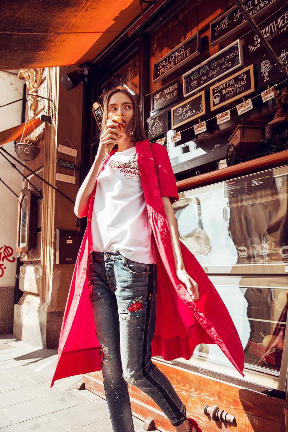 Obleka Fracomina 159,00 €, Majica Fracomina 79,00 €,  Jeans Fracomina 159,00 €